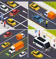 autonomous vehicle 2x2 design concept vector image vector image