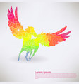 background with pegasus transition colors vector image