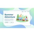 banner summer adventures concept vector image