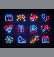 big collectin new year neon signs happy new year vector image vector image
