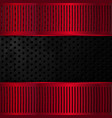 black and red metallic background vector image vector image