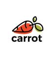 carrot logo icon vector image vector image