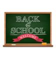 chalk on a blackboard - back to school vector image vector image