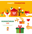Charity Foundations 2 Flat Banners Set vector image vector image