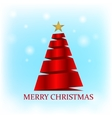 Christmas card on blue background vector image vector image