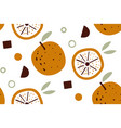 citrus wallpaper seamless pattern with vector image