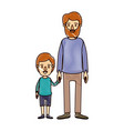color crayon stripe cartoon full body man taken vector image