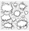 comic bubbles and elements 3 vector image vector image