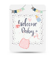 congratulations new baby card drawnbacard vector image vector image