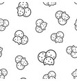 cookie seamless pattern background business vector image vector image