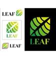 Design Modern eco logos vector image vector image