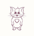 detailed cute cat standing on two legs vector image
