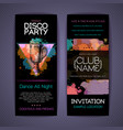 disco cocktail party corporate identity templates vector image