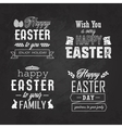 easter label set on blackboard vector image