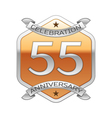 Fifty five years anniversary celebration silver vector image vector image