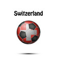 flag of switzerland in the form of a soccer ball vector image