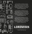 furniture shop or advertising blackboard poster vector image