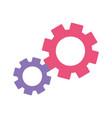 gears cogwheel work mechanic isolated design icon vector image
