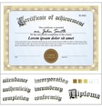 gold certificate Template Horizontal Additional vector image vector image