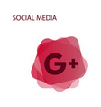 google plus icons on white background vector image