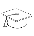 Graduation hat cartoon vector image