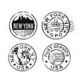 grunge stamp new york usa post vector image