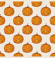 halloween pumpkins color seamless pattern vector image vector image