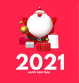 happy new 2021 year design template with 3d vector image vector image