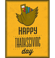 Happy Thanksgiving Day Vintage Typographic Poster