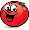 happy tomato character vector image vector image