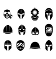 Helmets and masks icons vector image vector image
