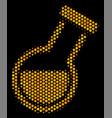 hexagon halftone retort icon vector image vector image