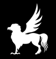 hippogriff black vector image vector image