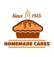 Homemade cakes and pies symbol for bakery design vector image vector image