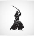iaido logo icon vector image vector image