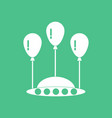 icon flying saucer and balloons vector image vector image