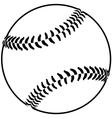image of a baseball isolated in white background vector image vector image