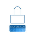 isolated lock outline padlock element can vector image vector image