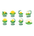 logo with image field for farms vector image vector image