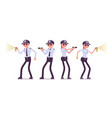 male and female security guard at work vector image vector image