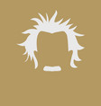 mans hair and mustache symbol vector image vector image