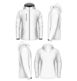 Men hooded softshell jacket design template vector image vector image