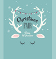 merry christmas greeting card with abstract deer vector image vector image