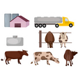 milk farm vector image vector image