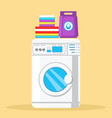 modern washing machine color vector image vector image