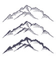 mountain ridge or range hand drawn with contour vector image