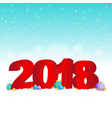 new year background 2018 vector image vector image