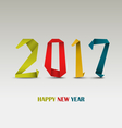 New Year card with abstract colored folded paper vector image vector image
