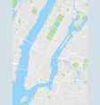 new york colored map vector image vector image