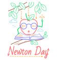newton day educational banner vector image vector image